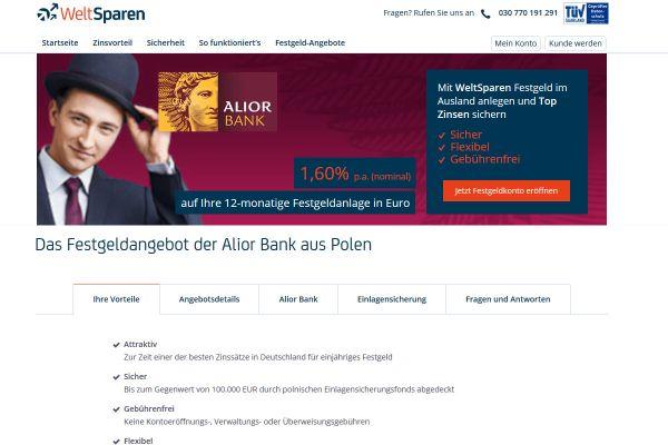 Alior Bank Festgeld