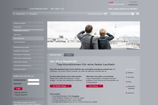 Audi Bank Festgeld
