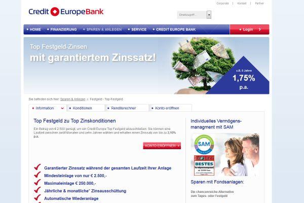 Credit Europe Bank Festgeld