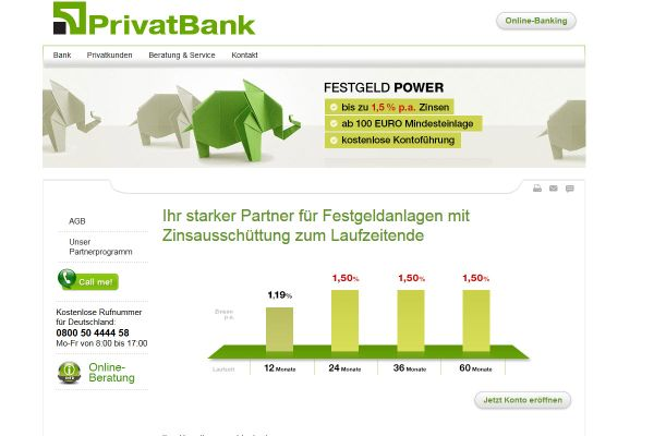 PrivatBank Festgeld