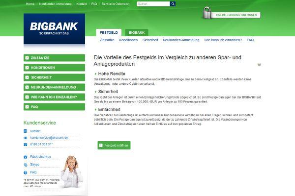 Bigbank Festgeld