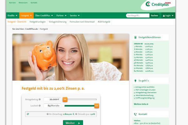 CreditPlus Festgeld