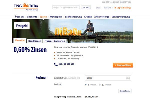 ING-DiBa Festgeld