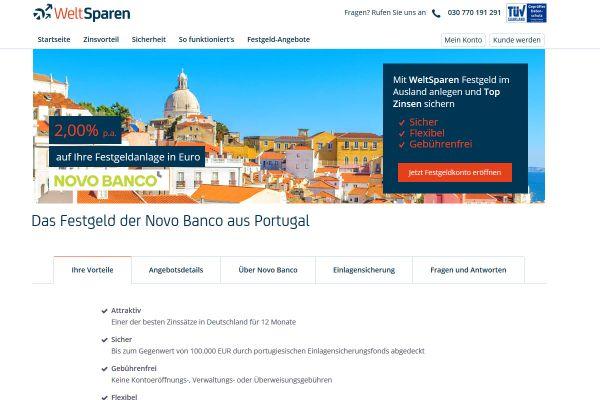 Novo Banco Festgeld